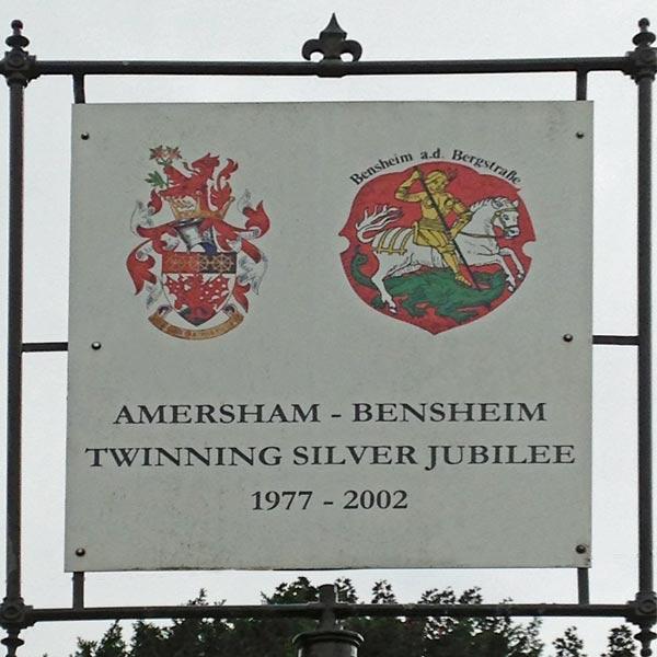 amersham bensheim twinning jubilee plaque