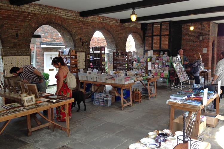 saturday market in amersham market hall