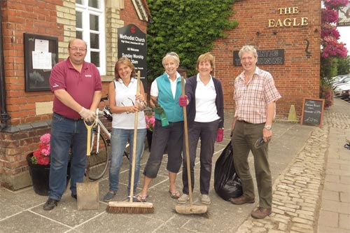 cleaning party in old amersham