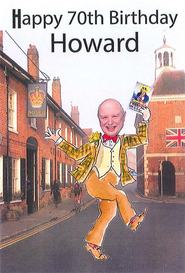 birthday card councillor howard newton