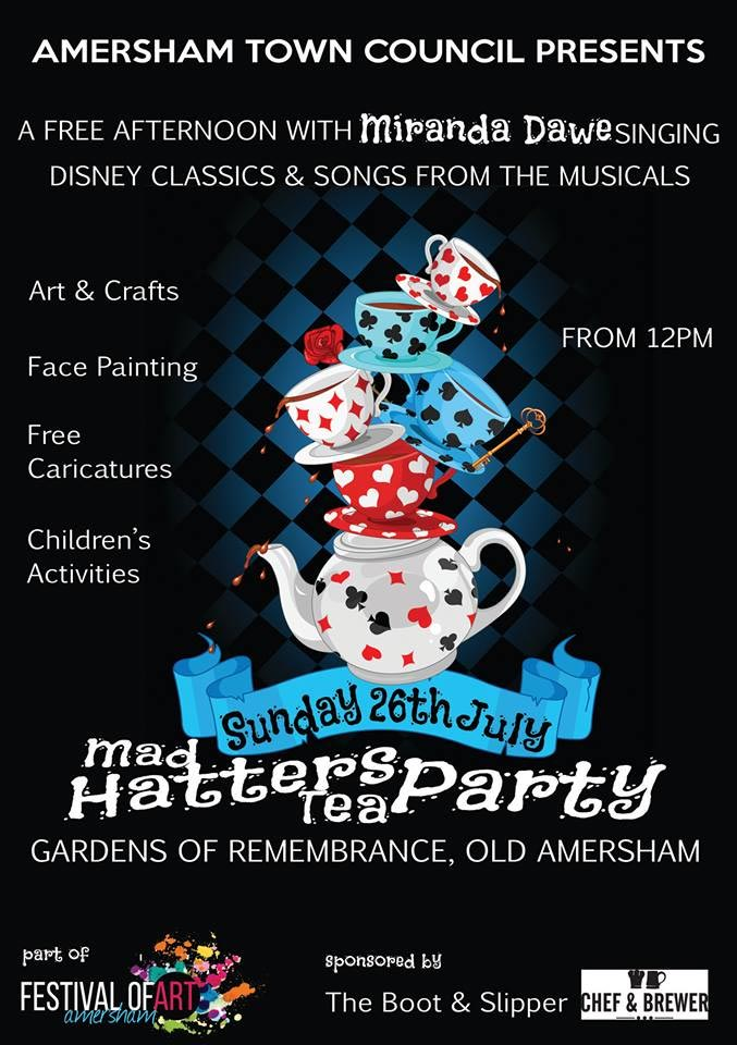 poster for mad hatters tea party amersham july 26 2015