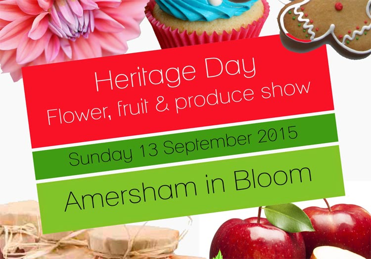 amersham in bloom 2015 horticultural show poster